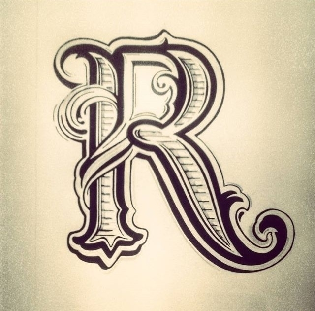 Hand drawn typography; letter - illustration - thatillustrator | ello