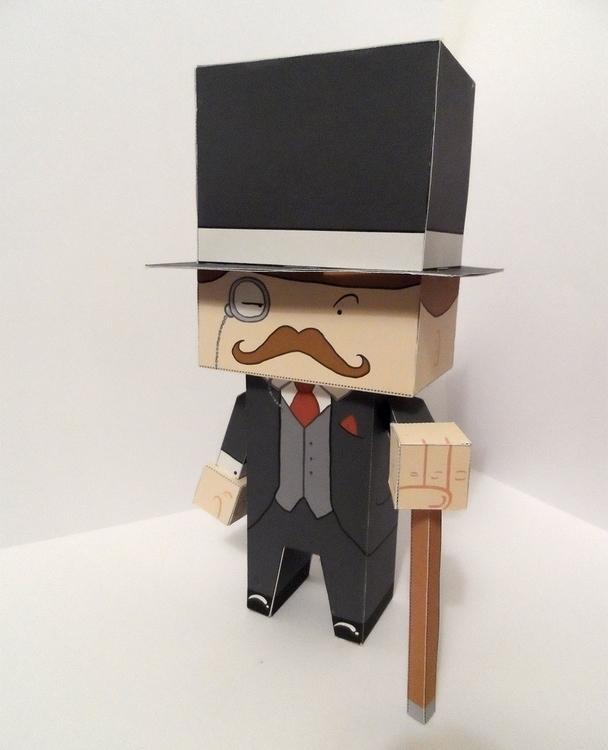 papertoy, cubeford, gentleman - craigactually | ello