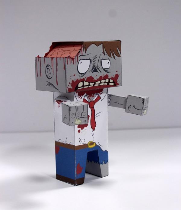 papertoy, zombie, characterdesign - craigactually | ello