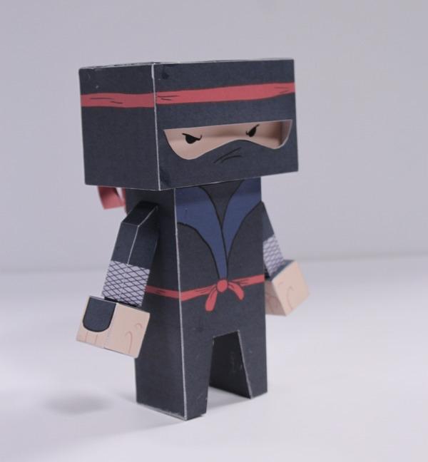 papertoy, ninja, cubeford, characterdesign - craigactually | ello