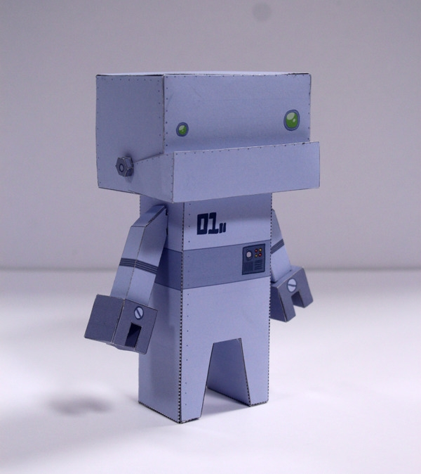 robot, papertoy, cubeford, characterdesign - craigactually | ello