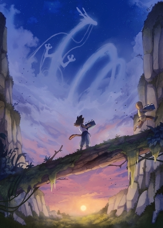 Big dreams - illustration, dragon - mvpurplespot   ello