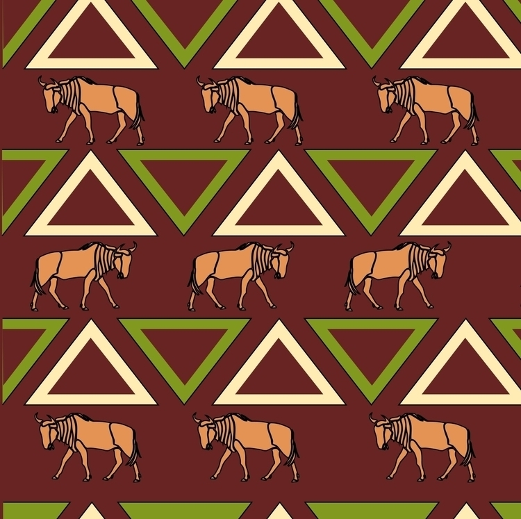 Buffalo - serengeti, tanzania, illustration - irene_rofail | ello