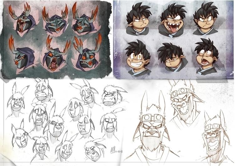 Expression sheets - characterdesign - mvpurplespot | ello