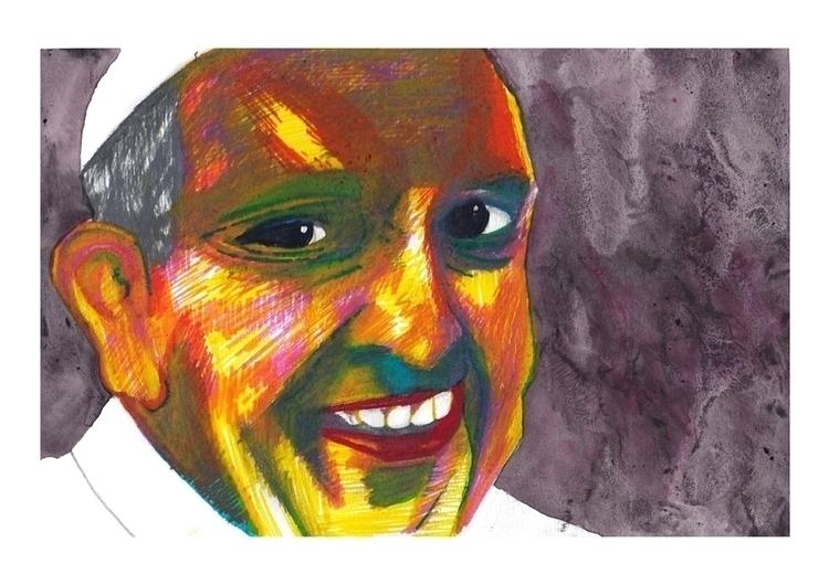 Portrait Francesco Bergoglio - portrait - stefanolazzaro | ello