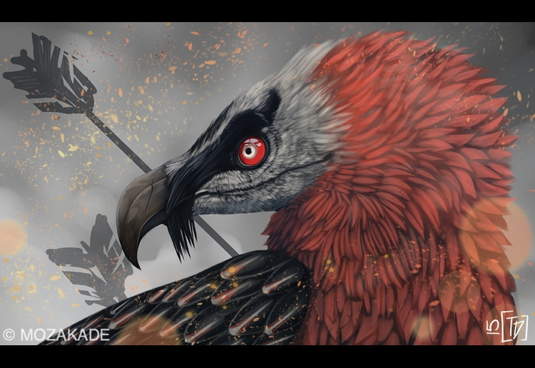 Bearded Vulture - digitalart, mozakade - mozakade | ello