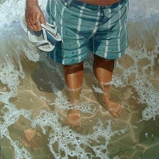 wet feet 85 cm oil canvas 2004 - spud-5454 | ello
