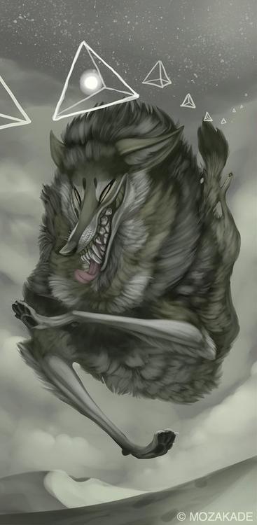 Desert Thieves - wolf, wonky, pyramid - mozakade | ello