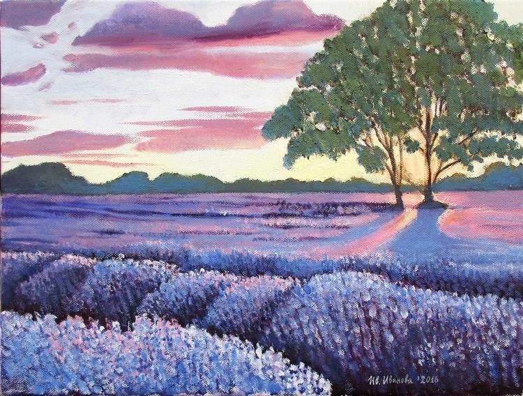 Lavender fields 1 - oilpainting - ivsebastian | ello