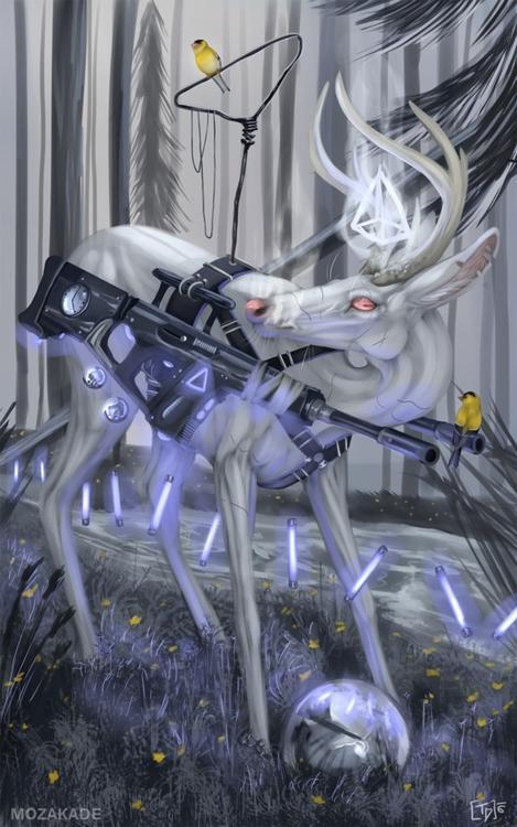 Listening Ghosts - albinodeer, whitedeer - mozakade | ello