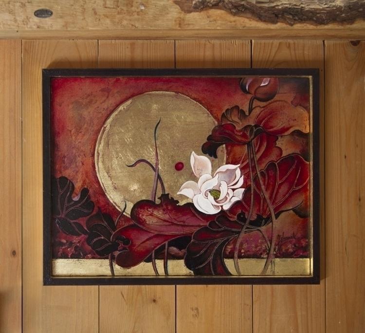 Moonlight Lullaby- original oil - annahannahart | ello