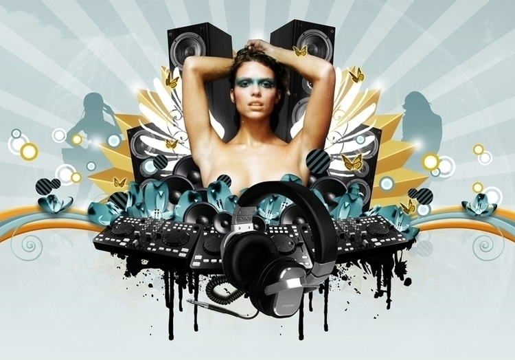 DJ Niki Belucci Promo (2008 - illustration - cornevandooren | ello