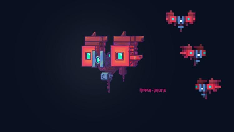 Concept Art ~ MAINFRAME - pixelart - planckpixels | ello