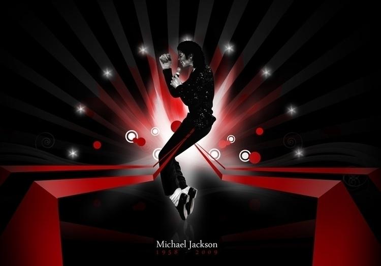 Michael Jackson Tribute (2009 - illustration - cornevandooren | ello