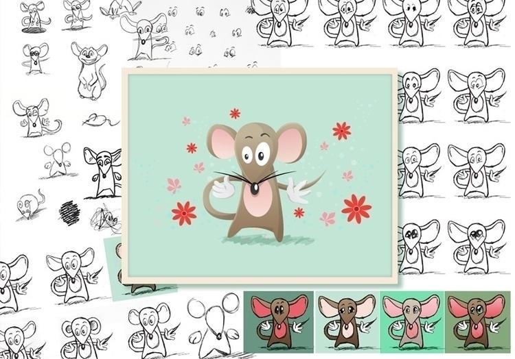 Character design Muuskes Mousie - cornevandooren | ello