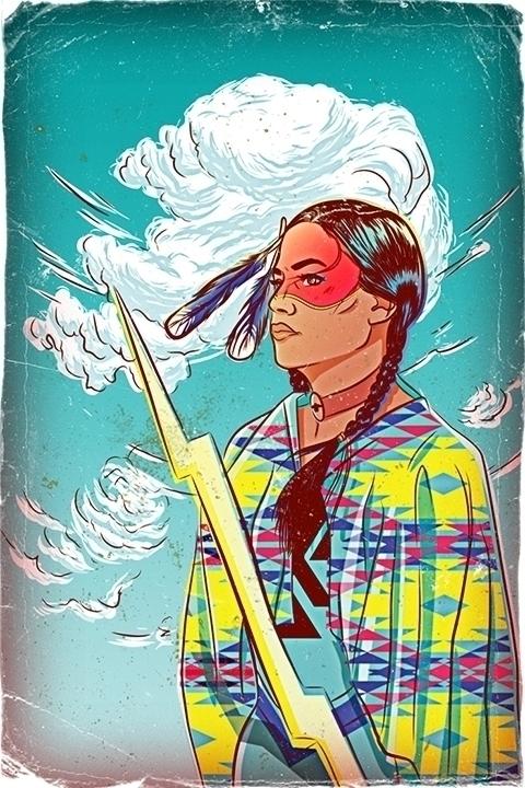 Thunder Woman - thunder, woman, comic - onedove | ello