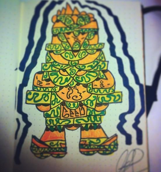 tiki design idea - drawing - torresj | ello