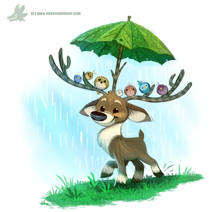 Daily Paint Raindeer - 1199. - piperthibodeau | ello