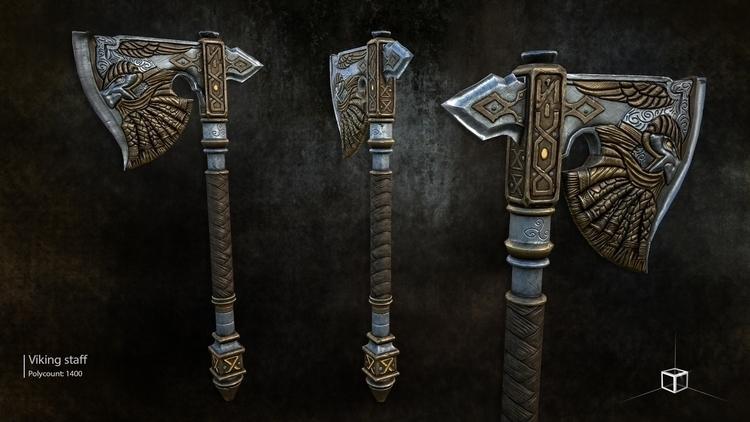 Viking axe - 3d, gameart, gamedev - ikon-7344 | ello