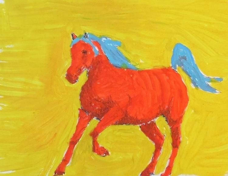 illustration, horse, horses, horsesinaction - kleckerlabor-5193 | ello