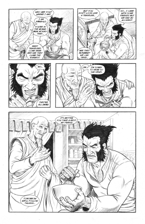 Nightmare page 15 - wolverine, pencil - alexfemenias | ello