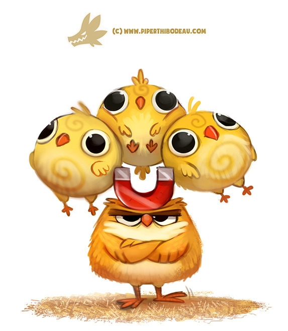 Daily Paint 1308. Chick Magnet - piperthibodeau | ello