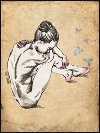 Fleeting thoughts - illustration - amparocortes | ello