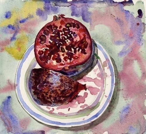 watercolor, watercolour, food - naktisart | ello