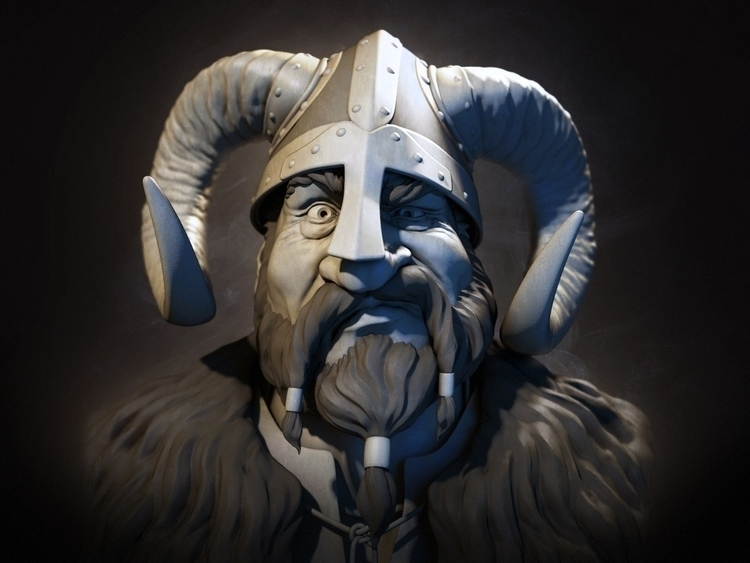 Viking - characterdesign, painting - rlouro | ello