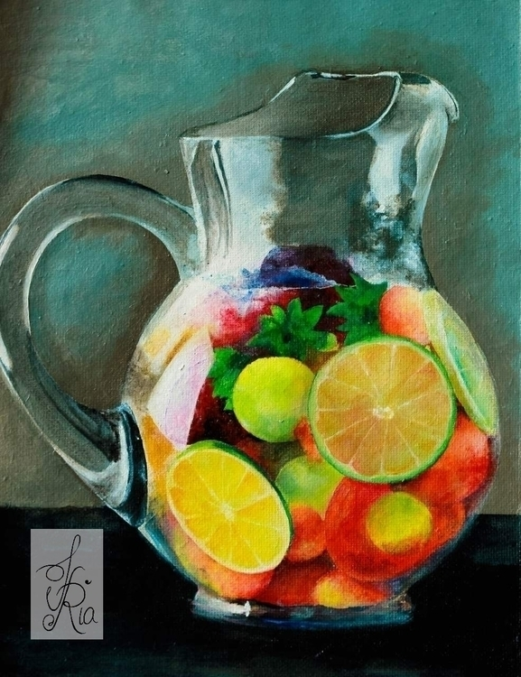 Colorful Fruits - jug, fruits, colorful - fariafiroz26 | ello