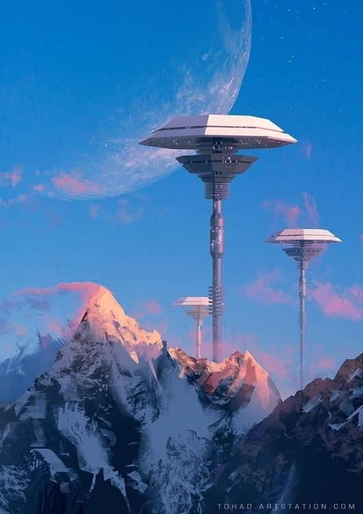 Towers Titania - sci-fi, space, sciencefiction - tohad | ello