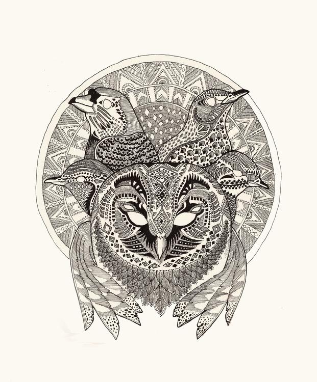 Dawn Chorus - nature, birds, illustration - polkip | ello