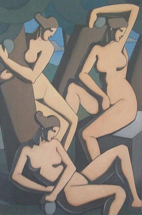 Desnudo Femenino Oleo sobre tel - sanjulian | ello