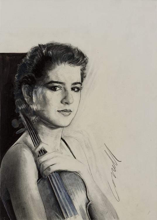 violinist Nadja - illustration, drawing - gregcorrell | ello