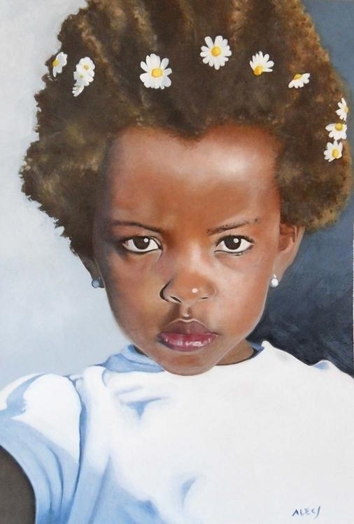 Comission - portrait, acrylic, painting - alecs-1191 | ello