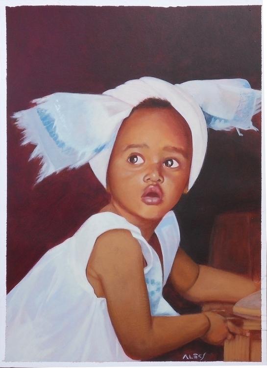 Comission - portrait, painting, acrylic - alecs-1191 | ello