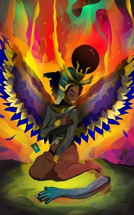 Kemetic goddess Aset (Isis) mou - ixnivek-4991 | ello