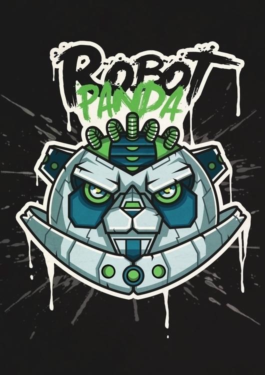 PANDA ROBOT - panda, robot, illustration - benben-9748 | ello