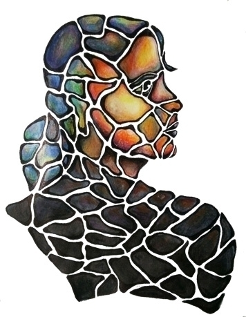 Pieces - mosaic, coloredpencil, illustration - catsnodgrass | ello