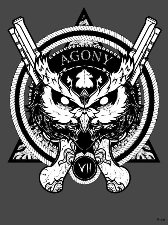 Owl agony - illustration, owl, gun - riezr | ello