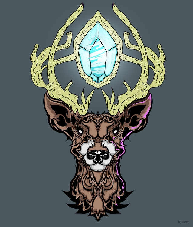 Diamond deer - illustration, design - riezr | ello