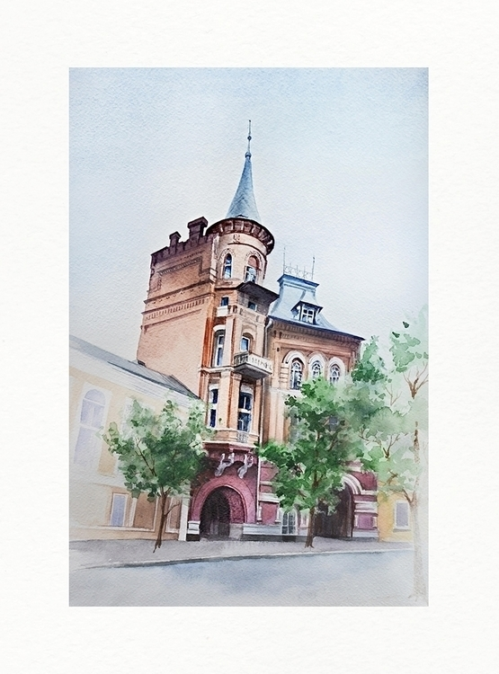city - kiev, architecture, watercolor - malenka-9713 | ello