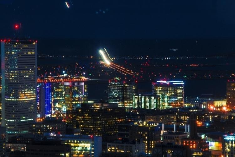 color, ariel, city, airport, lights - dave19   ello
