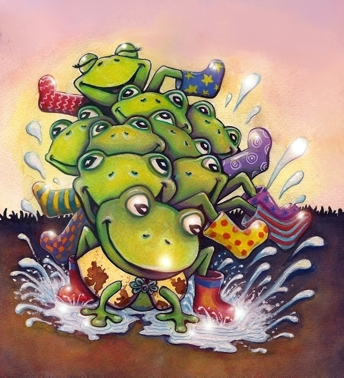 Frog Boots - frogs, splash, rainboots - catsnodgrass | ello