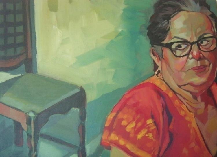 painting, acrylicpaint, portrait - phaoenix | ello