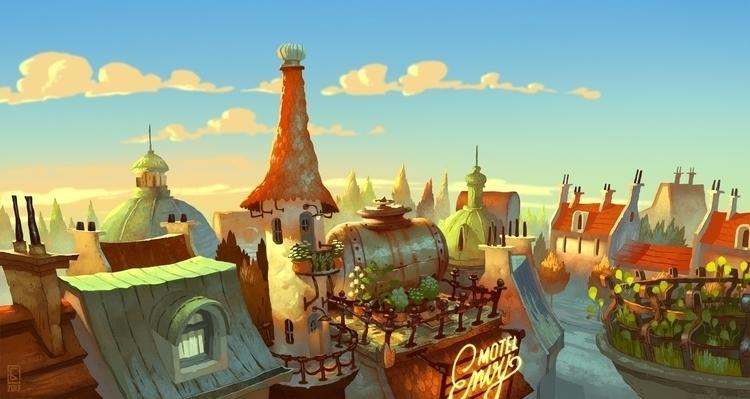Motel Envy - motel, panorama, sky - boris_bakliza | ello