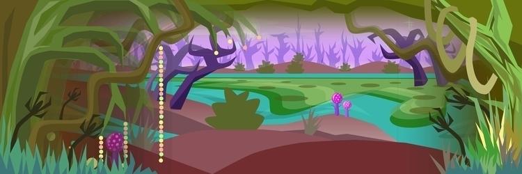 illustration, vectorart, swamp - elf-1123 | ello