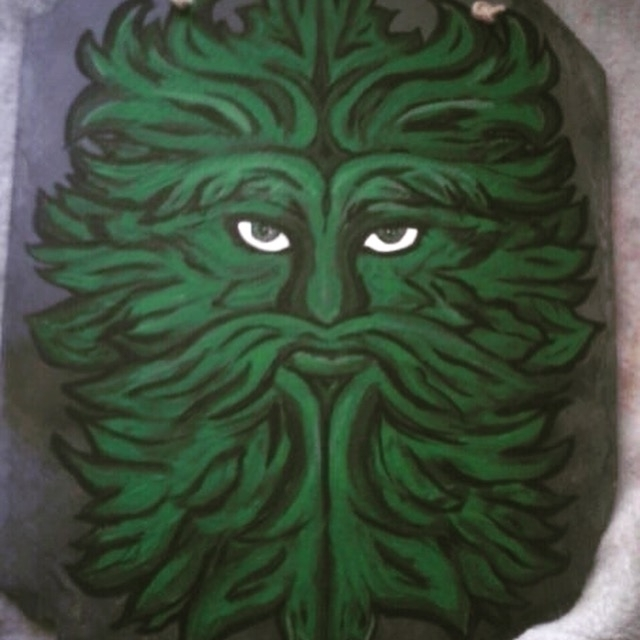 greenman, green, Celtic, illustration - kpowell-1395 | ello