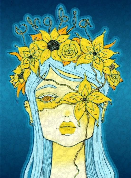 Anthophobia, fear flowers - illustration - laurentesch | ello