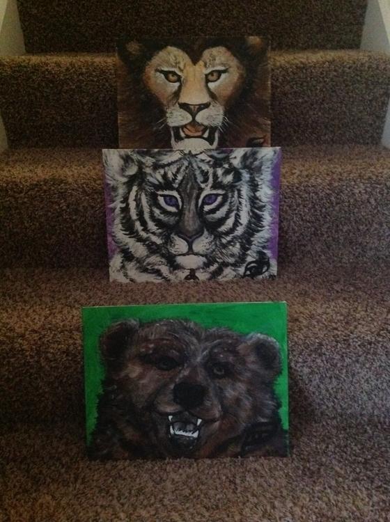 Lions,Tigers Bears - #lions#tigers#bears#ohmy#acrylic#endangeredspecies - kpowell-1395 | ello